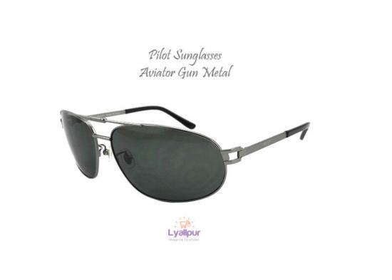 Pilot Sunglasses Aviator Gun Metal