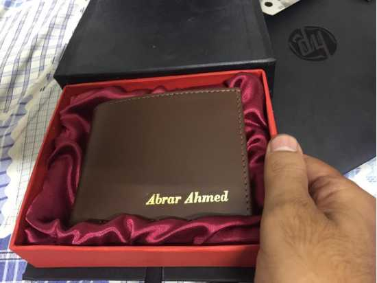 CUSTOMIZE NAME ON LEATHER WALLET WITH BOX PACKING (PERFECT GIFT TO SEND YOUR...
