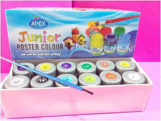 Apex Junior Poster Colour 12 pcs