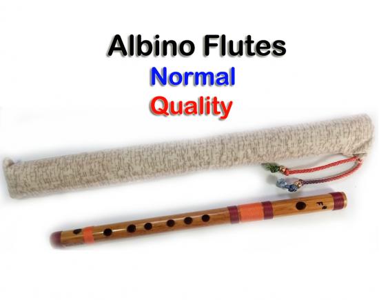 Albino F#.Medium Scale Side Blown Bamboo Bansuri/ Flute