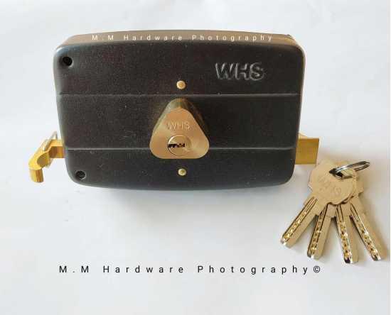 Main Gate Lock, Heavy Duty, High Security, 4 Computer Keys Brass Colour
