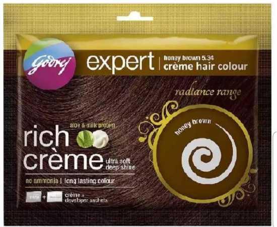 Godrej Honey Brown Creme Hair Colour (India)
