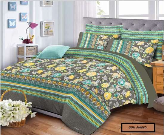 King Size Pure Cotton Bed Spread Bring a touch of Elegant & Exquisite into...