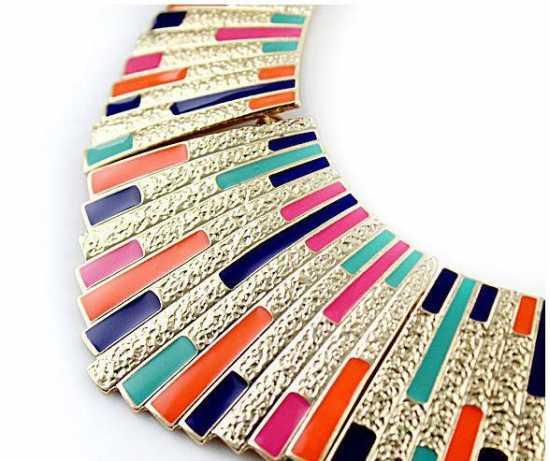 Multicolor Retro Necklace