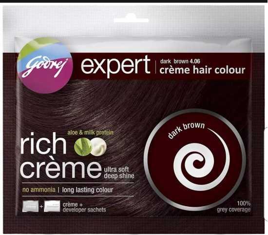 Godrej Dark Brown 4.06 Creme Hair Colour