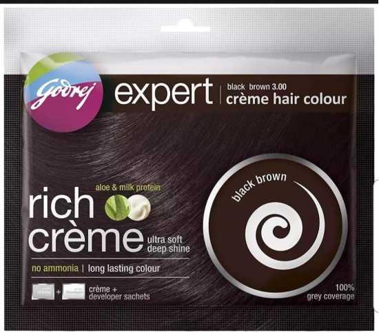 Godrej Black Brown 3.00 Creme Hair Colour