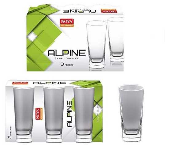 Nova Alphine thumbler water Glass 6peice set