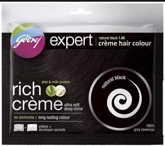 Godrej Expert Rich Crème, Natural Black