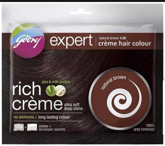 Godrej Expert Creme Hair Colour Natural Brown 4.00