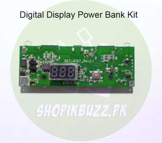 Power Bank Digital Display Dual port 5v-1A & 5v-2A Module Circuit