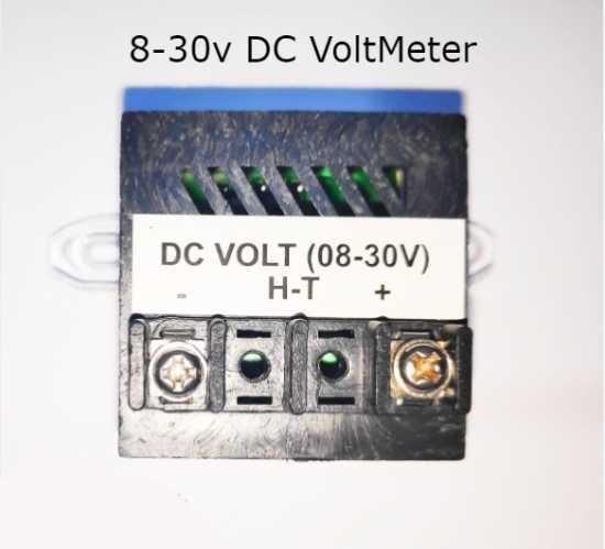 DC VOLTMETER RANGE 8 - 30V LED DIGITAL VOLTAGE PANEL METER