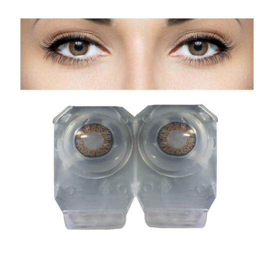 1 Pair Soft Contact Color Lenses Eye Makeup- Blue Hazel Aqua Green Brown Gray