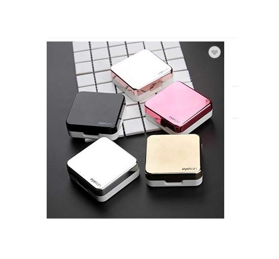 Reflective eye contact lenses case, custom colorful cute portable travel...