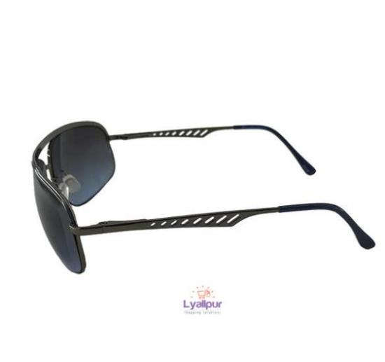 Oval Sunglasses Metal Silver