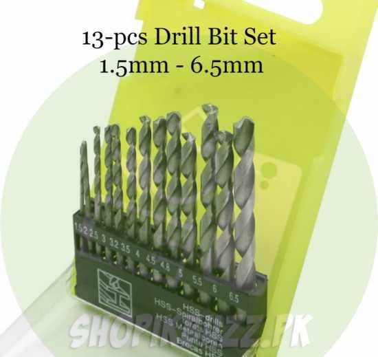 Drill bit set Barma (1.5mm, 2mm, 2.5mm, 3mm, 3.2mm, 3.5mm, 4mm, 4.5mm, 4.8mm,...
