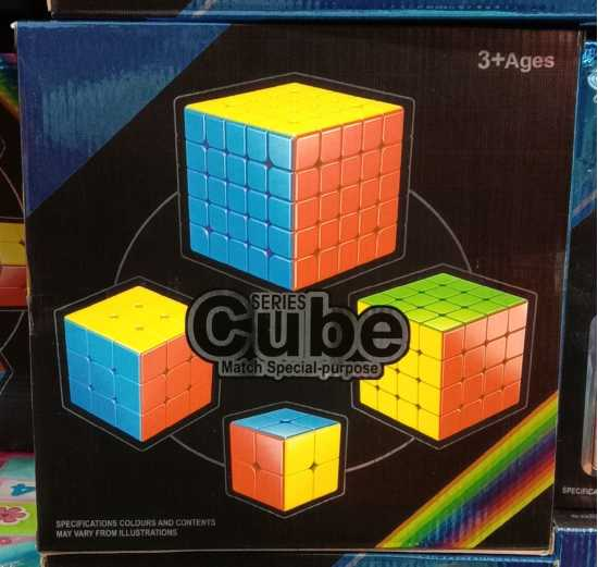 Pack of 4 Rubik's Cube – Good Quality Puzzle Cube