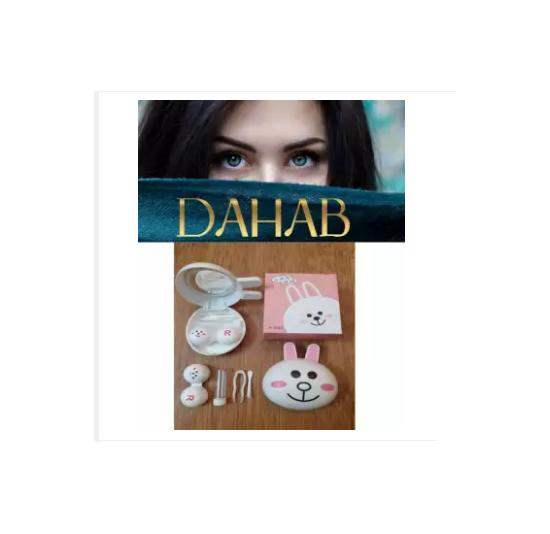 DAHAB Contact Lenses with Mini Cute Lens Case Travel Kit By AOptics Karachi
