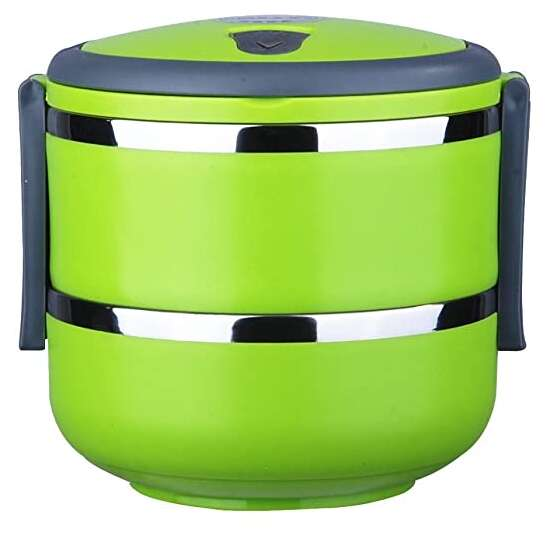 1.4 L Stacking Lunch Box- Food Containers,Two Tier Tiffin with Vacuum Seal...