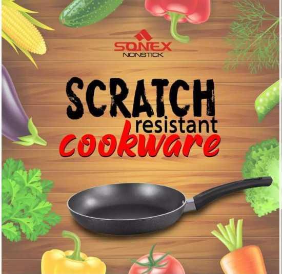 Sonex Super Fry Pan - Non Stick Coating - Black