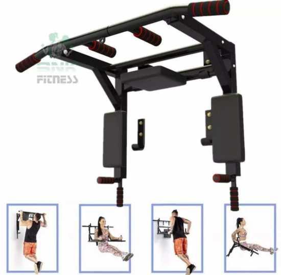 Wall mounted pull up bar - chin up bar - pullup and dip bar - pull up machine...