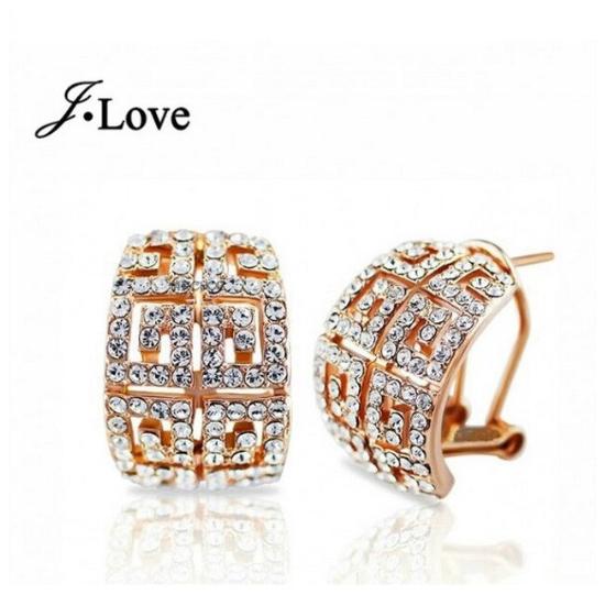 Dubai Gold Jewelry Wedding Set Rhinestone