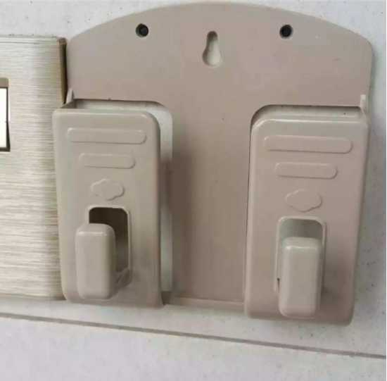 Double MOBILE HOLDER WALL SOCKET PHONE CHARGING HOLDER, Wall Mount Phone...