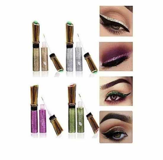 Pack Of 6 Glitter Eyeliner Multicolo
