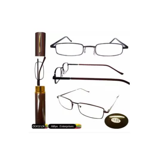 Optical Eye Glasses +1.25 Eye Sight with Pen Case Reading Glass