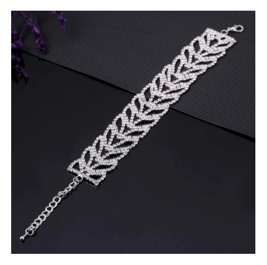 Luxury Wedding Austrian Crystal Bracelets For Women Charm Friendship Silver...