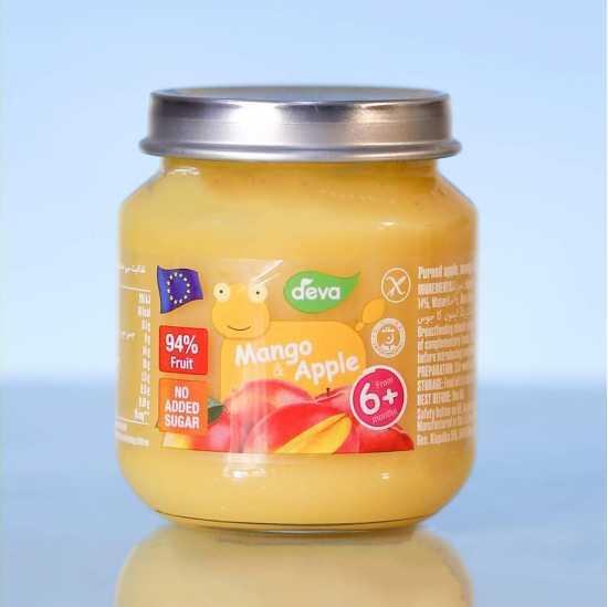 Deva Baby Food Mango And Apple 125 GM (Pack Of 2)