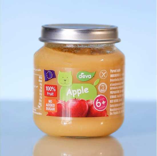 Deva Organic Baby Food Apple 125 GM (Pack Of 2)