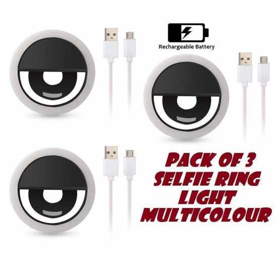 Pack Of Three 36 Selfi Led Ring Flash Clip Light Promotio Camera