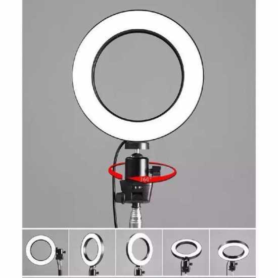 LED Selfie Ring Light 16cm Camera Phone Photography Video Makeup Lamp /...
