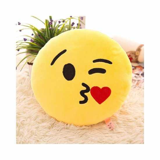 Emoji cushions, yallow face,  smiley cushion