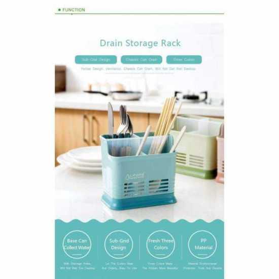 Creative Multifunction Kitchen Storage Rack Chopstick Spoon Fork Tableware...