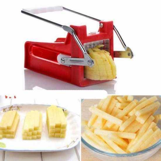 French Fries Potato Chips Strip Cutting Cutter Machine