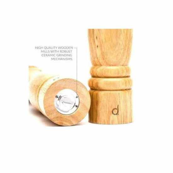 Wooden Pepper Mill And Salt Shaker Set