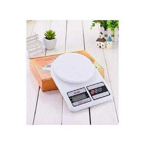 Digital Electronic Kitchen Scale - White