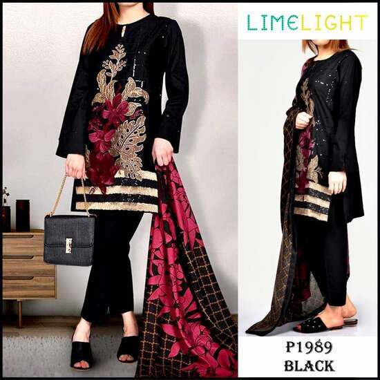 P-1989 Unstitched Lawn Eid Collection 3Pc Embroidered Collection Unstitched...