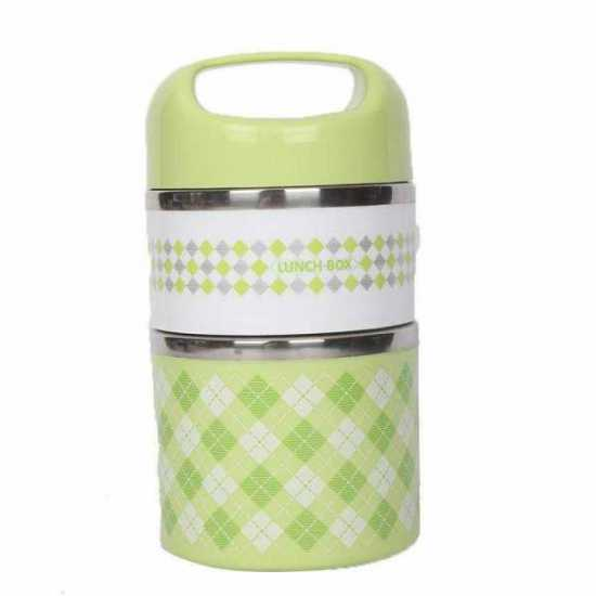 Tiffen Lunch Box Dots Handle 2 Portions