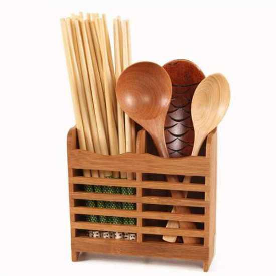 Cutlery Holder Bamboo 15 x 8 x 12.5 cm