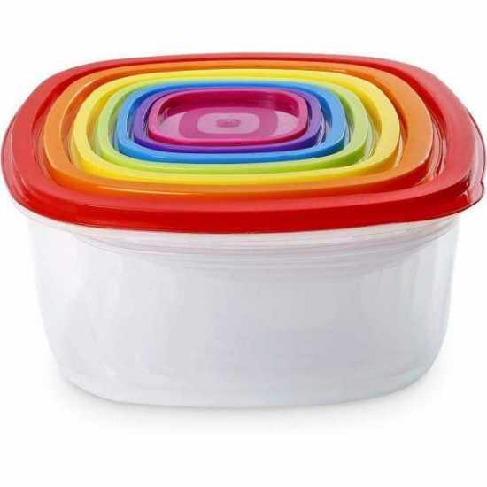 Pack of 7 - Food Storage Box Set - Multicolor