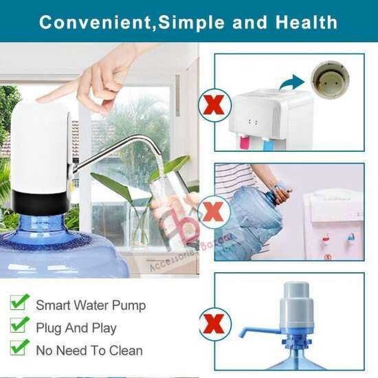 Electric USB Recharging Drinking Water Pump For Bottle