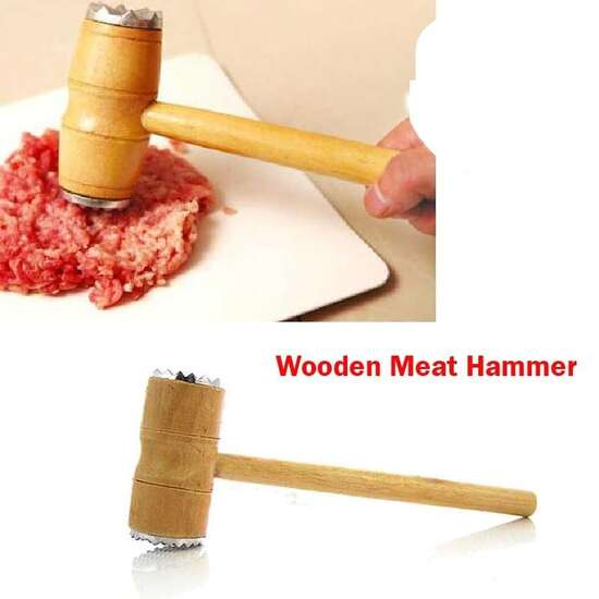 Durable Wooden Meat Hammer