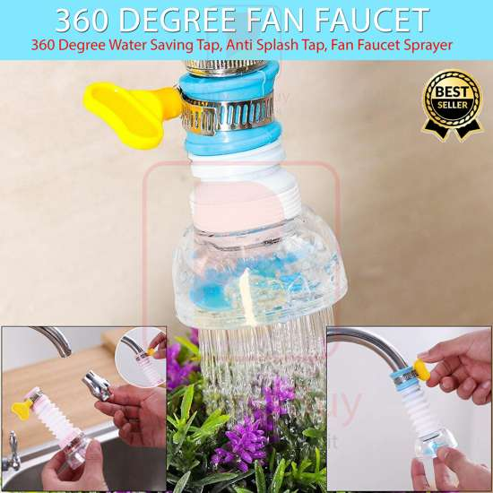 Buy & Buy -New Fan Faucet Plastic Faucet Tap Water Health Filter with Clip...