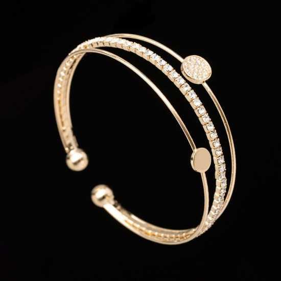 Women Shiny Bracelet Classic Crystal Rhinestone Stretch Bracelet