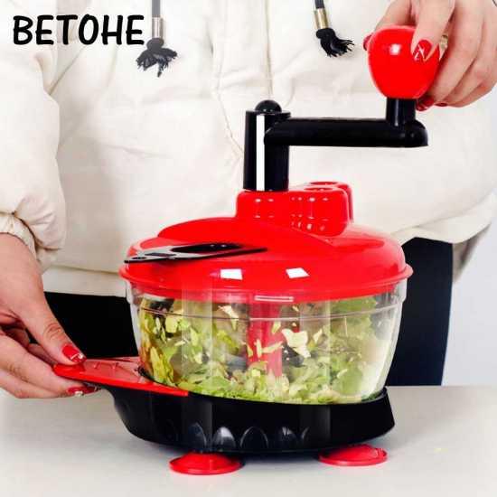 Manual Meat Grinders Vegetable Chopper Egg Beater Food Mixer Blender Shredder...