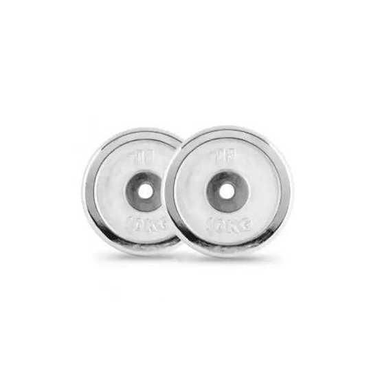 Set of 1kg chrome plates - Silver