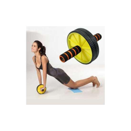 AB Wheel AA Total Body Exerciser YELLOW AND BLACK