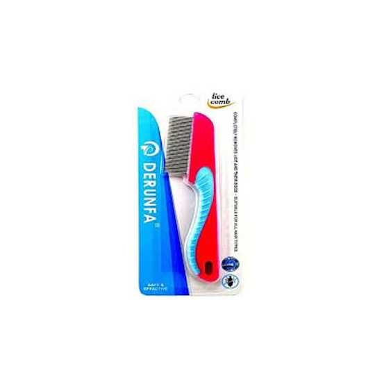 Lice Comb  red and sky large